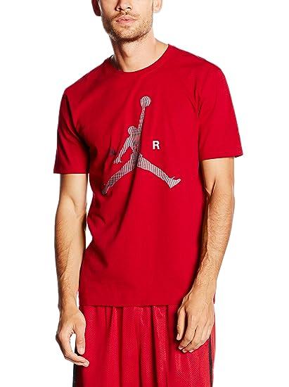 213b25bf3e50ae Amazon.com  Jordan Jumpman Air Men s T-Shirt Gym Red Wolf Grey ...
