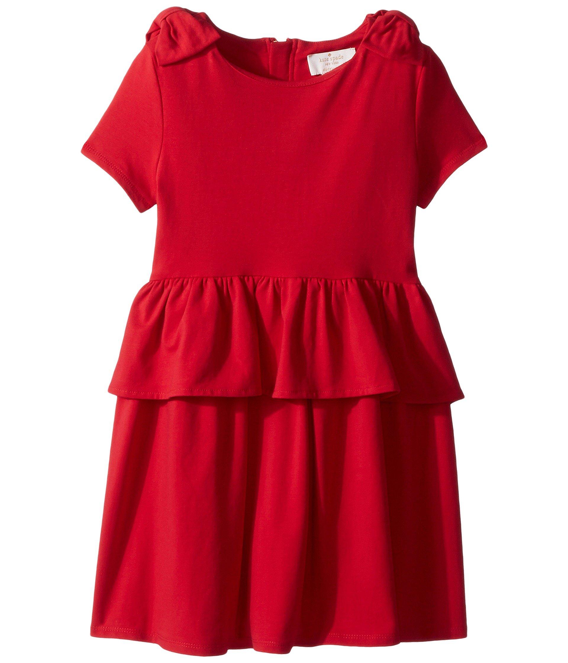 91d42bd45d304 Galleon - Kate Spade New York Kids Baby Girl's Pepulum Waist Dress (Toddler/Little  Kids) Charm Red 6