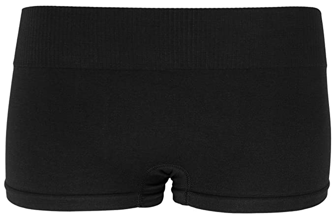 58d8d53a836d KMystic Seamless Hot Shorts Boy Short One Size (Black) at Amazon Women's  Clothing store: