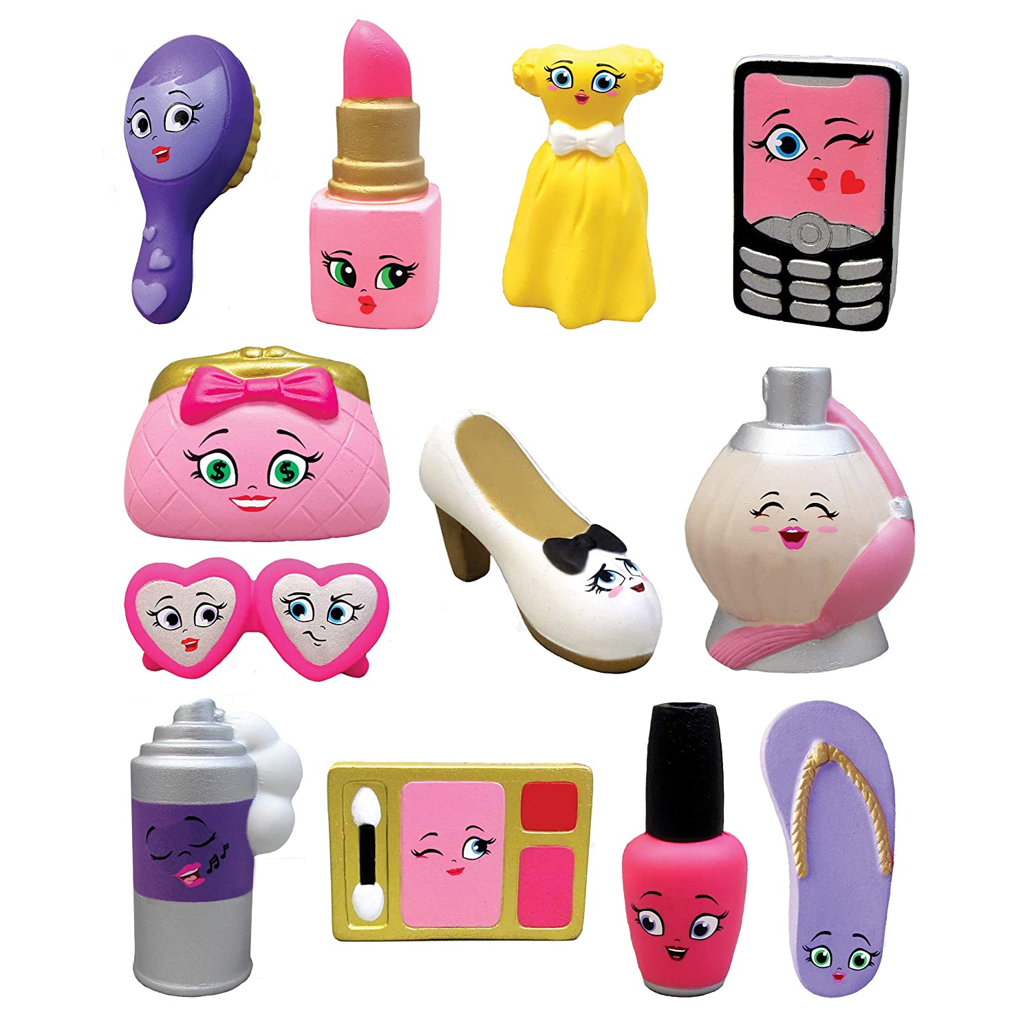 Pack of 5 Multicolor NEW DIMENSIONS TOYS Series 4 Accessories New Dimensions ND2007-5P Kawaii Squeezies