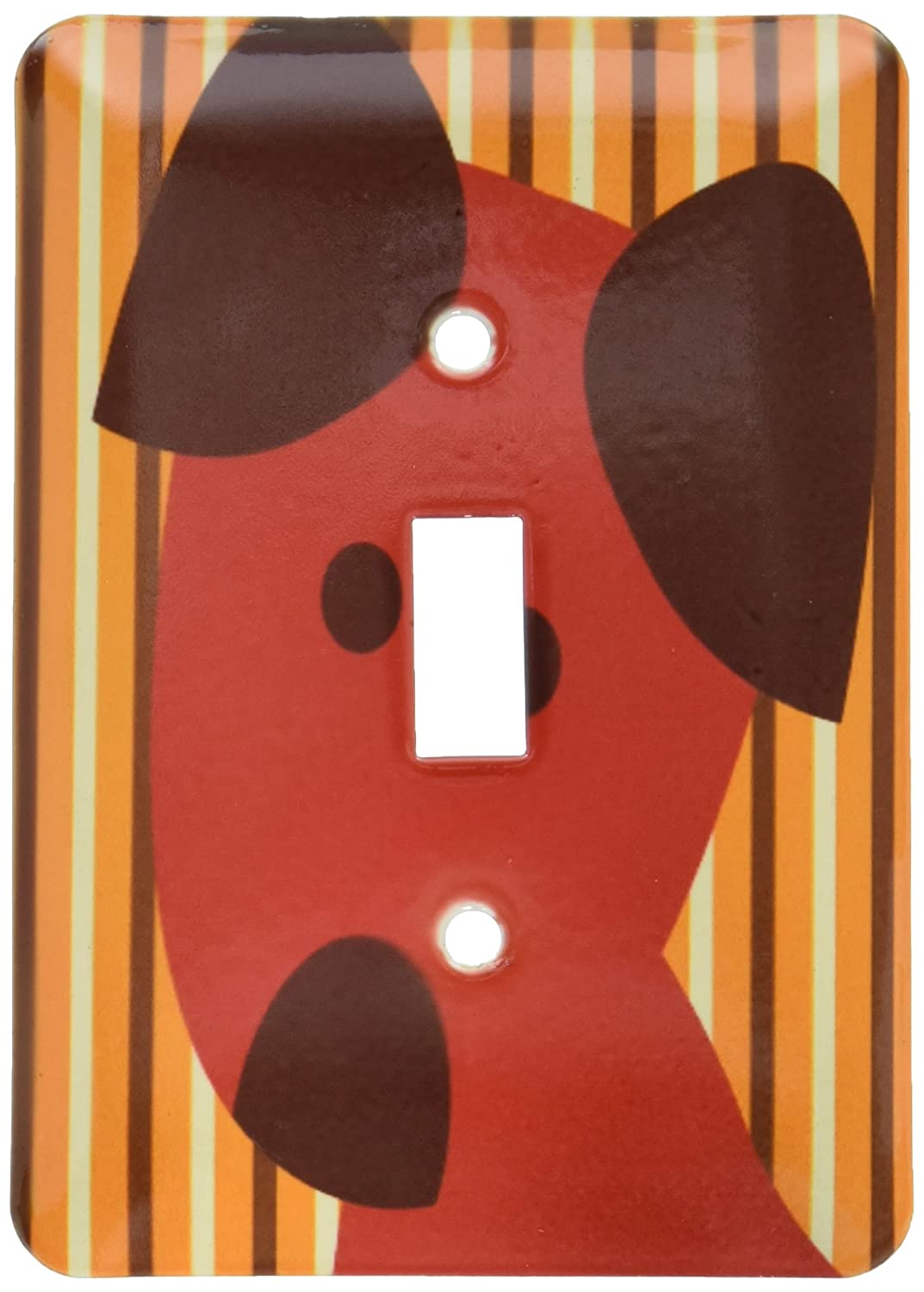 3dRose LSP/_79155/_1 Cute Red Dog Single Toggle Switch