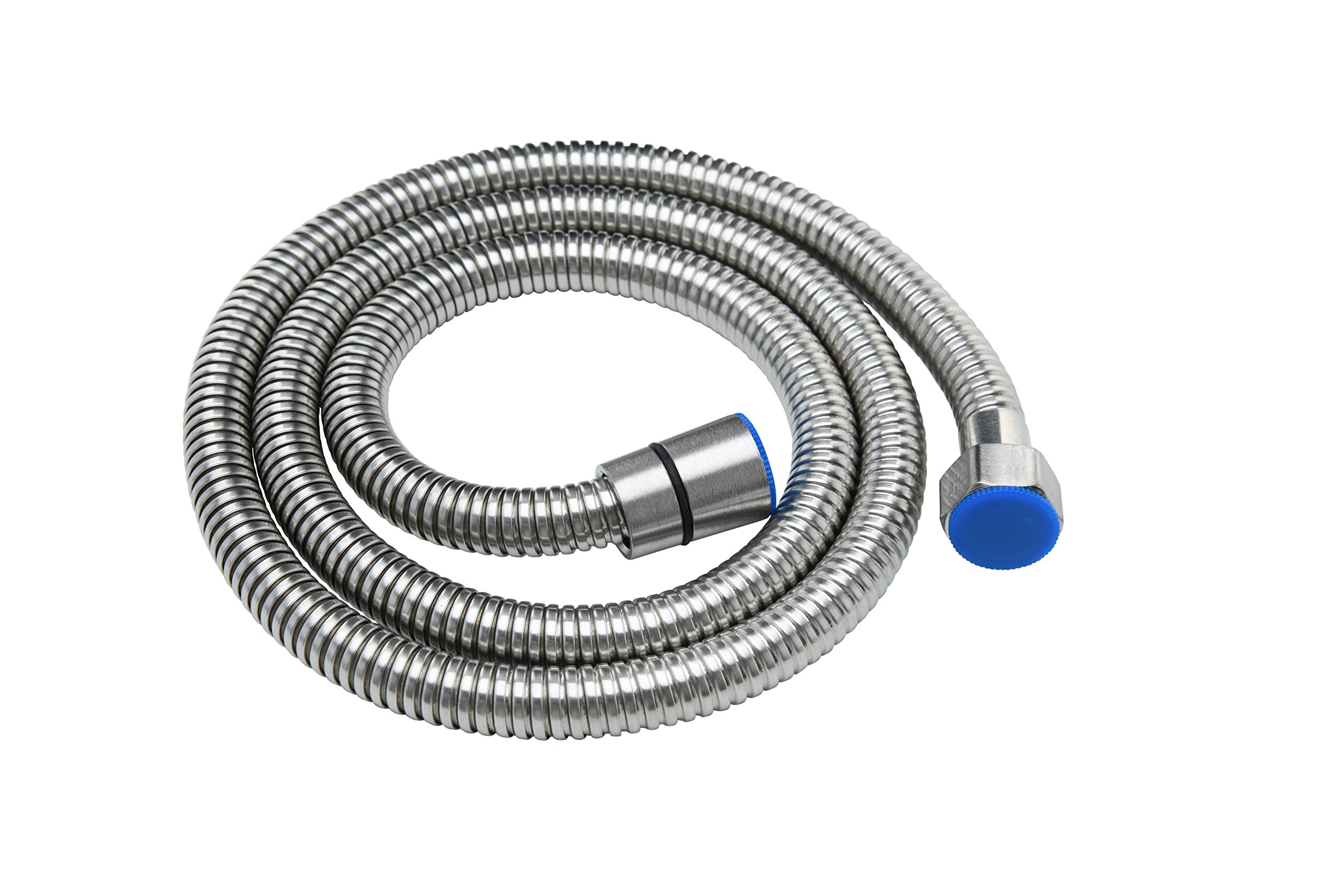 PurrfectZone Brushed Nickel 48-Inch Flexible Metal Stainless Steel Shower Hose/Hose Faucet for Bathroom Toilet Handheld Showerhead Bidet Sprayer Extension & Replacement Part