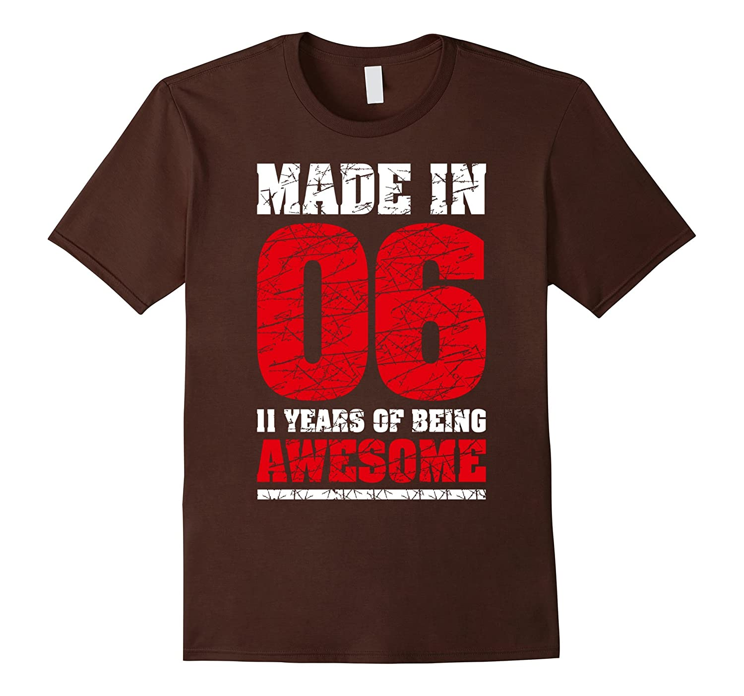 11th Birthday Gift T-Shirt Made In 2006 Awesome 11 years old-TH
