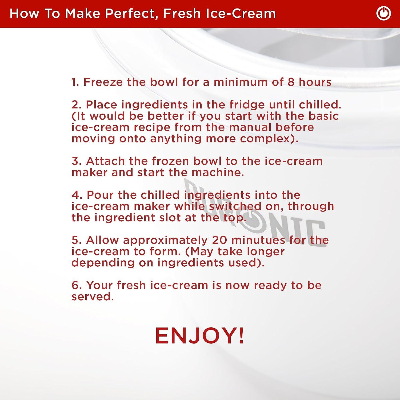 Duronic IM525 Sorbeti/ère//à glace ou yaourt frozen yoghurt