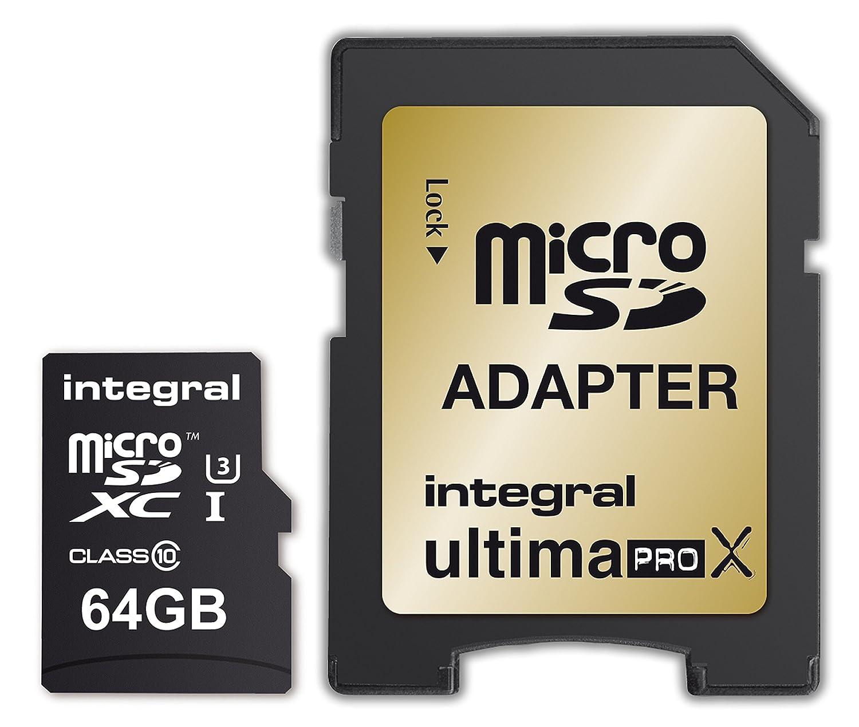 Integral UltimaPro X 64 GB microSDXC Clase 10 con Tarjeta de ...