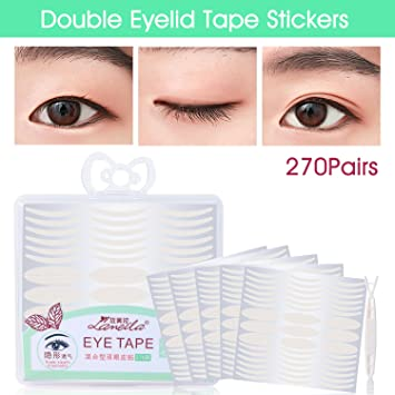 Lameila Ultra Invisible Fiber Double Eyelid Tape Stickers - Instant Eye  Lift Without Surgery - Perfect for Hooded, Droopy, Uneven, or Mono-eyelids