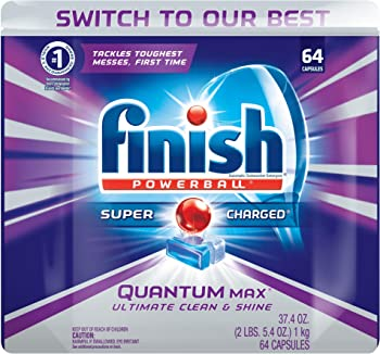 64-Ct Finish Quantum Max Powerball Dishwasher Detergent Tablets