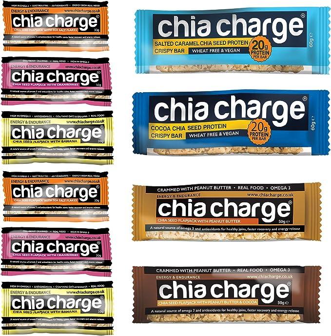 Chia Charge energía y veganos barras de proteína - healthy ...
