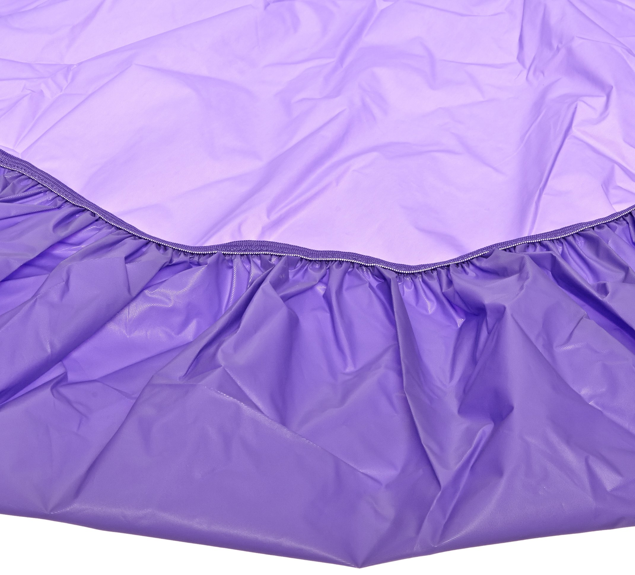 Kwik-Cover 72-P 72'' Round Kwik-Cover-Purple Fitted Table Cover (1 full case of 50) by Kwik-Covers