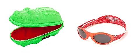 Coffret cadeau de bébé Lunettes de soleil Etui Vert Crocodile et BabyBanz  Lunettes de soleil Petit 7ab6360907f0