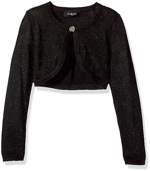 fc9b17759c3 Amy Byer Big Girls  Long Sleeve Metallic Cardigan  Amazon.ca ...