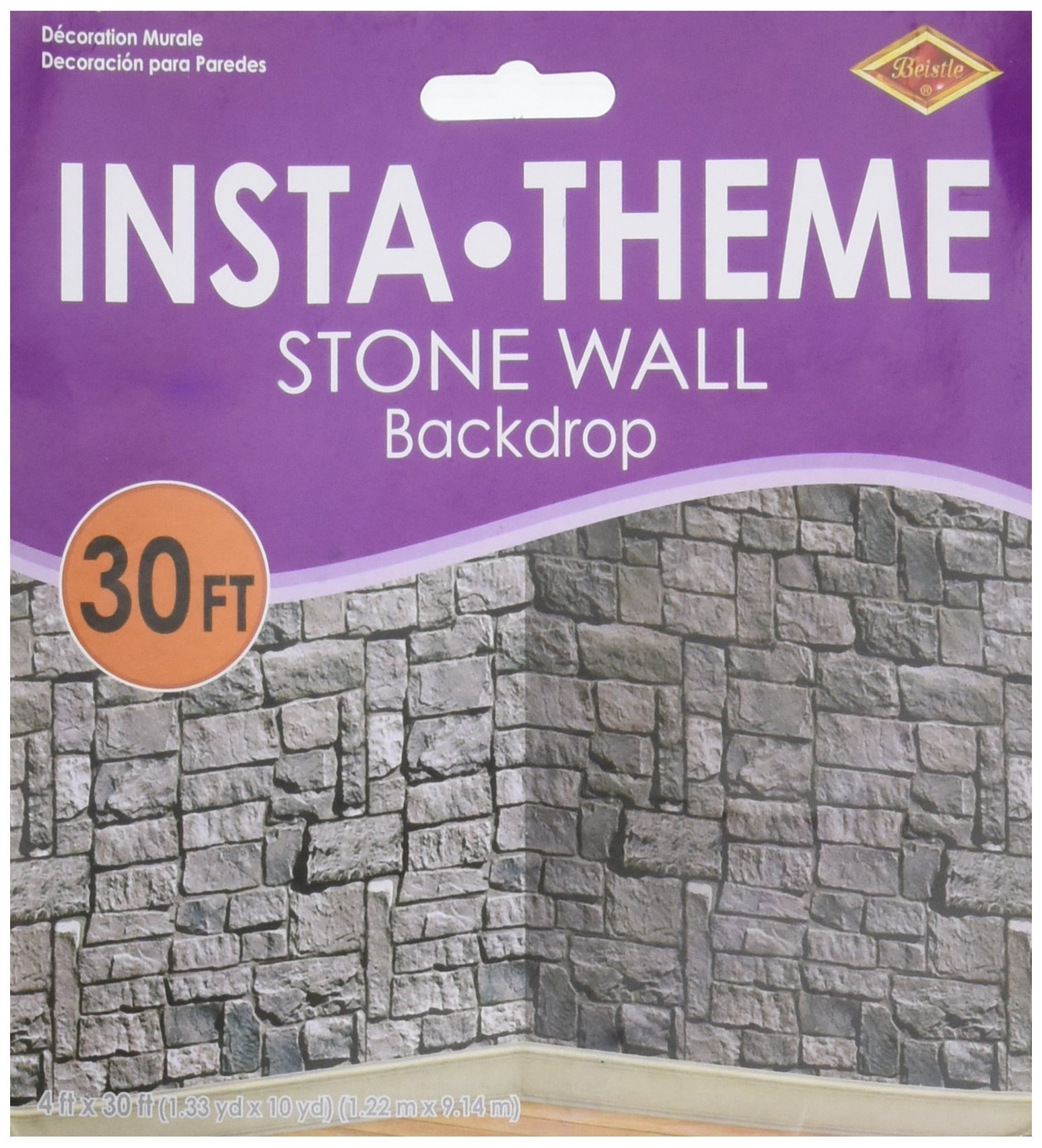 Beistle Stone Wall Scene Setter by Beistle