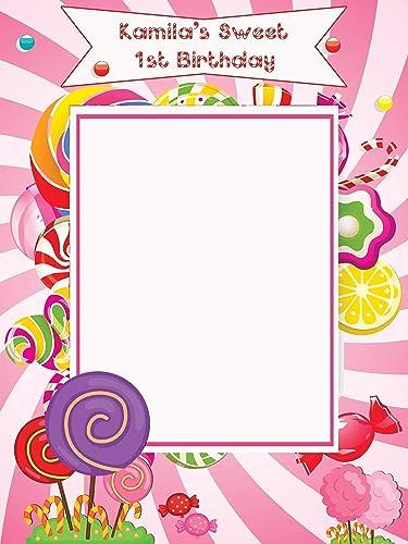 Amazon Com Custom Candy Land Birthday Photo Booth Prop Size 36x24
