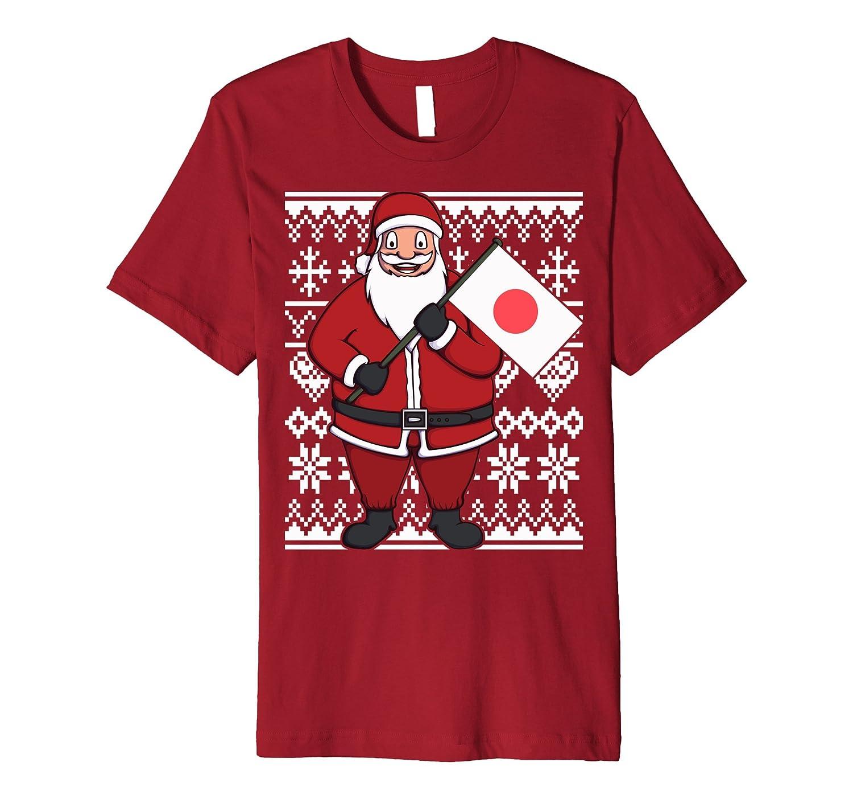 Ugly Christmas Japan Flag Santa Japanese Gift Idea T-Shirt-ANZ ...
