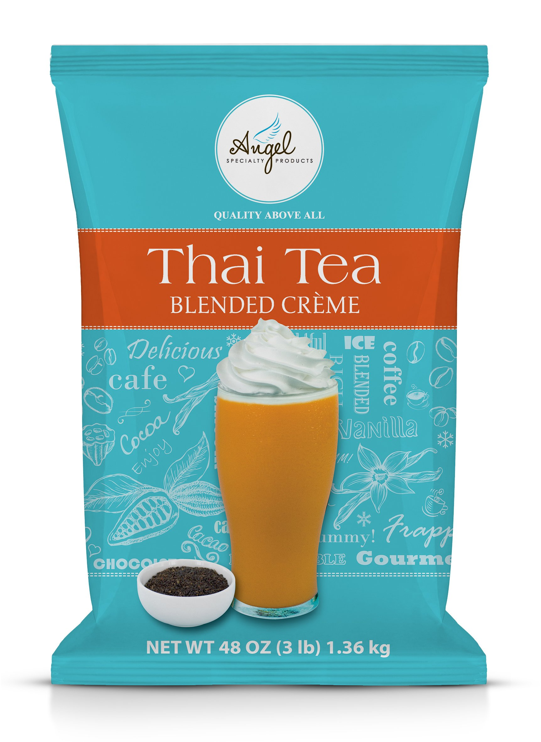 Angel Specialty Products | Thai Tea Blended Creme 3-Pound Powder Mix