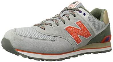 quite nice 8e4a8 17625 New Balance Men s ML574 Outside in Pack-M, Grey Orange 14 D US