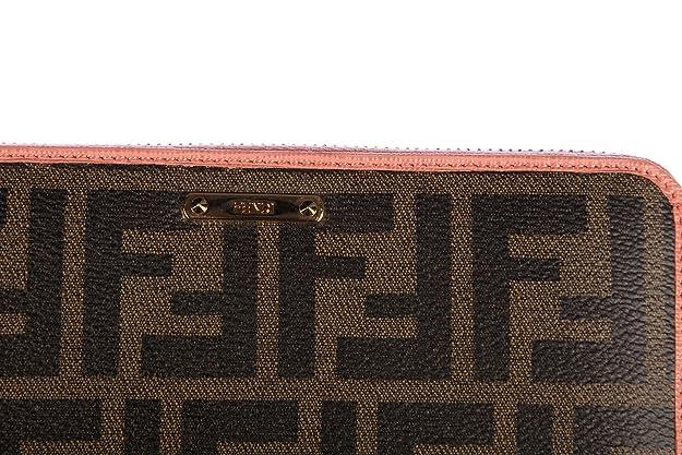 679b6eadcea4f Fendi Damen Geldbörse Portemonnaie Bifold Geldbeutel zucca elite zip around  Braun  Amazon.de  Schuhe   Handtaschen