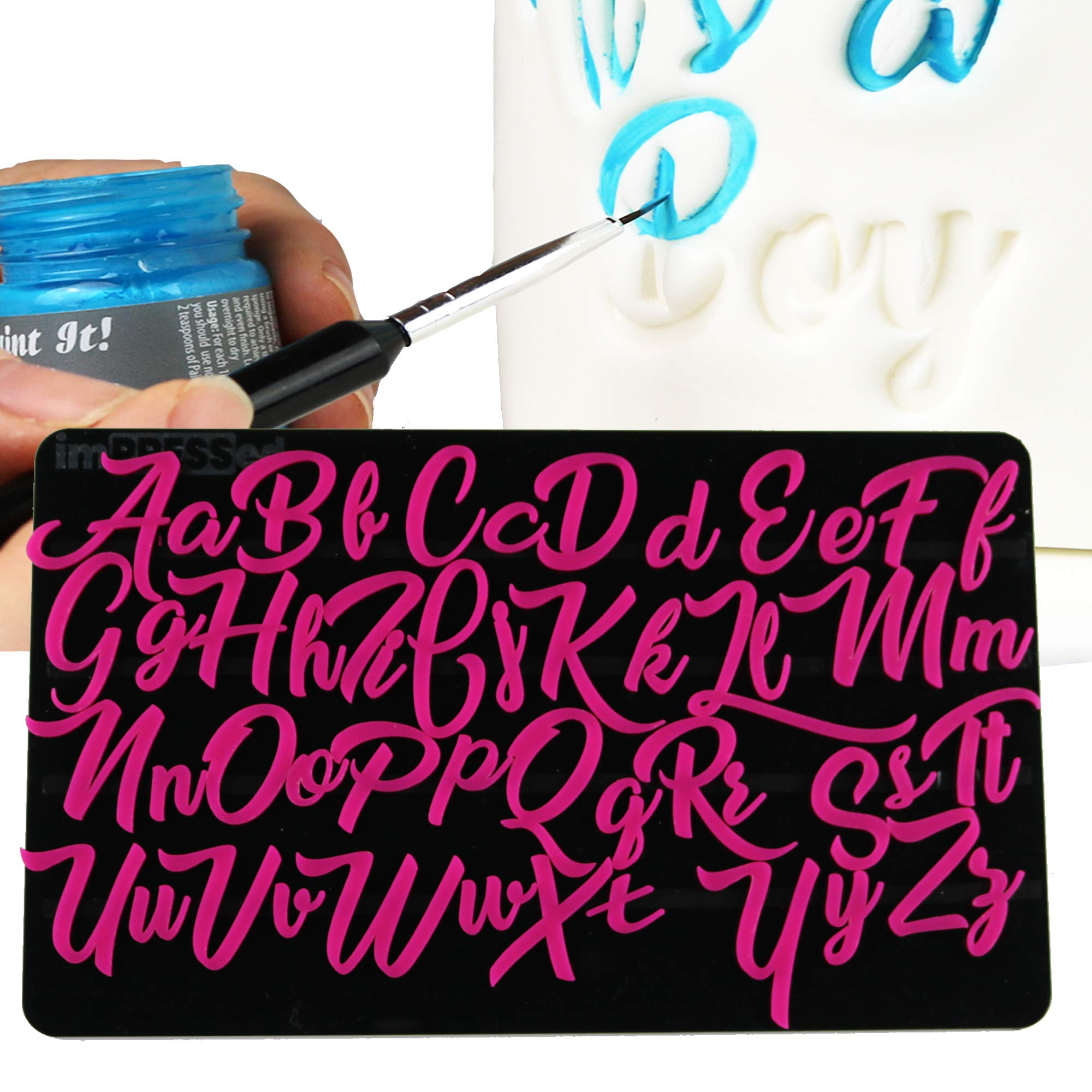 Exquisite Cake Letters - imPRESSed Lettering Embossers Cake Decorating