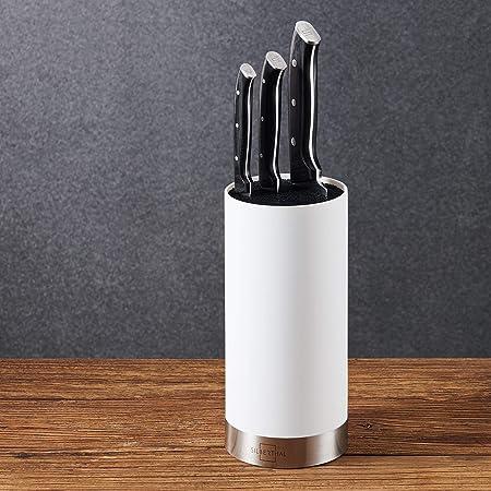 SILBERTHAL Soporte para Cuchillos de Cocina | Tacoma sin Cuchillos | Bloque para Cuchillos Universal | Cuchillero Blanco