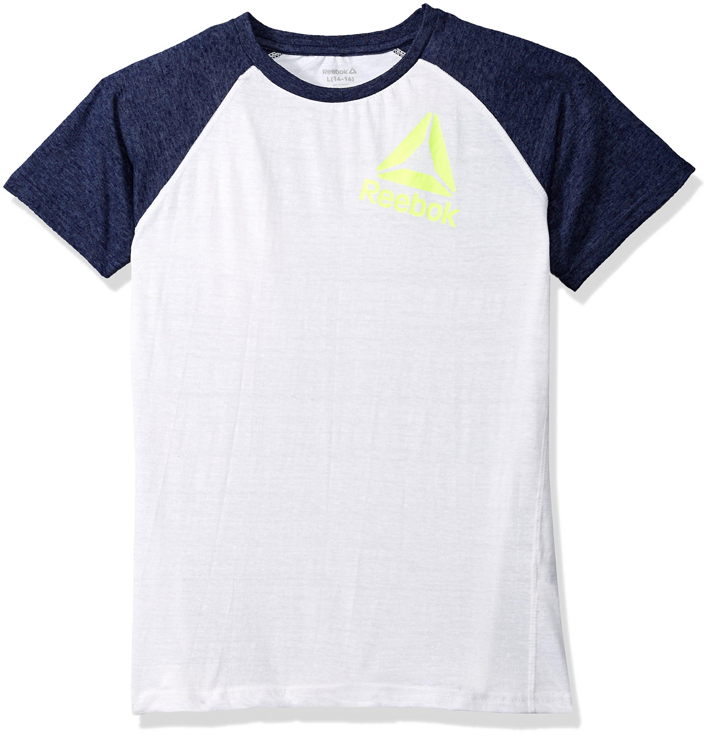 Reebok Big Boys' Athletic T-Shirt, True White-Bbcxp, 18/20