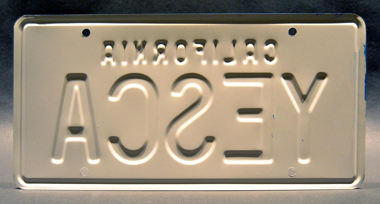 Celebrity Machines Cheech /& Chong/'s Up in Smoke YESCA Metal Stamped Vanity Prop License Plate Fiberweed Van