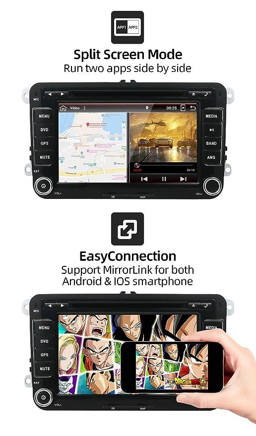 Android 8.1 Autoradio 2 Din Estereo Compatible para Volkswagen VW ...