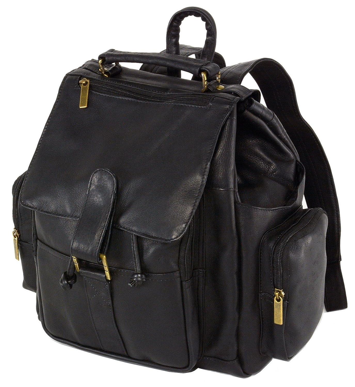 Hammer Anvil Carepa Leather Backpack Large Versatile Use Daily For Travel Black