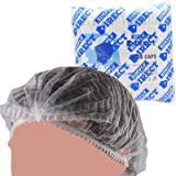 100 White Mob Caps / Hair Nets Head Covers In A Resealable Bag. Clip / Mop Caps From Simply Direct.