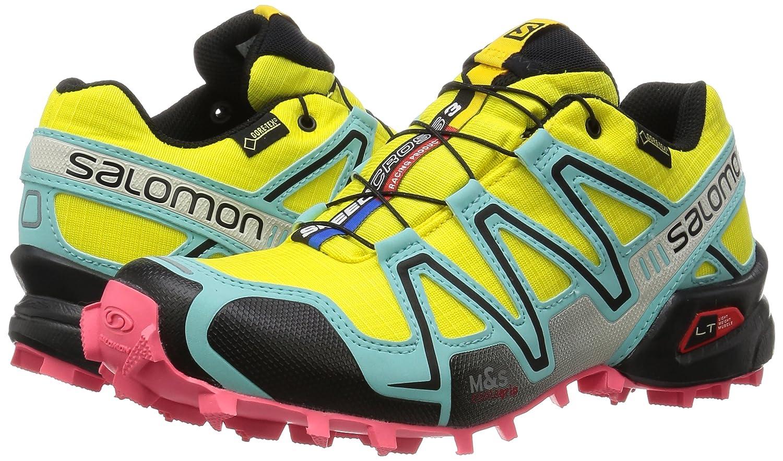 Salomon Speedcross 3 GTX, Zapatillas de Trail Running para Mujer, Amarillo (Citrus-X/Bubble Blue/Madder Pink), 42 EU: Amazon.es: Zapatos y complementos