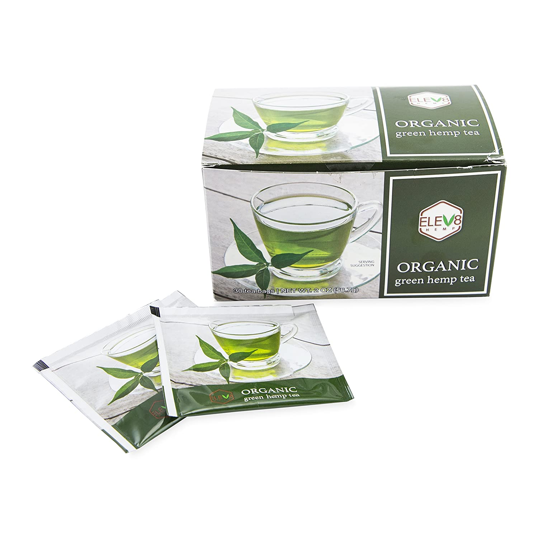 Organic Elev8 Hemp Tea (Green Tea)