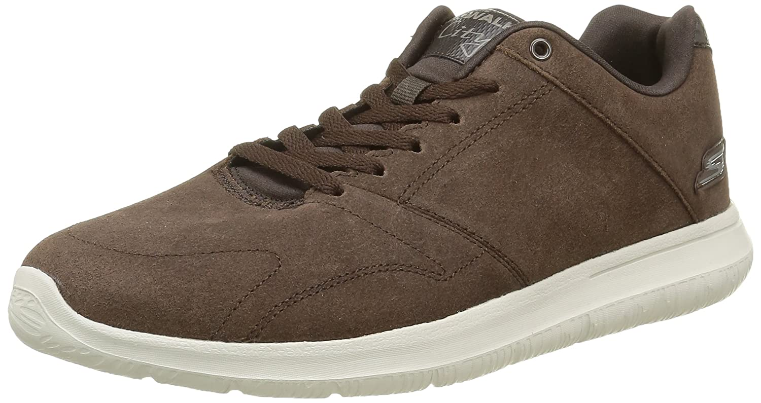 Skechers Go Walk City Retain Mens Suede Walking Sneakers / Shoes