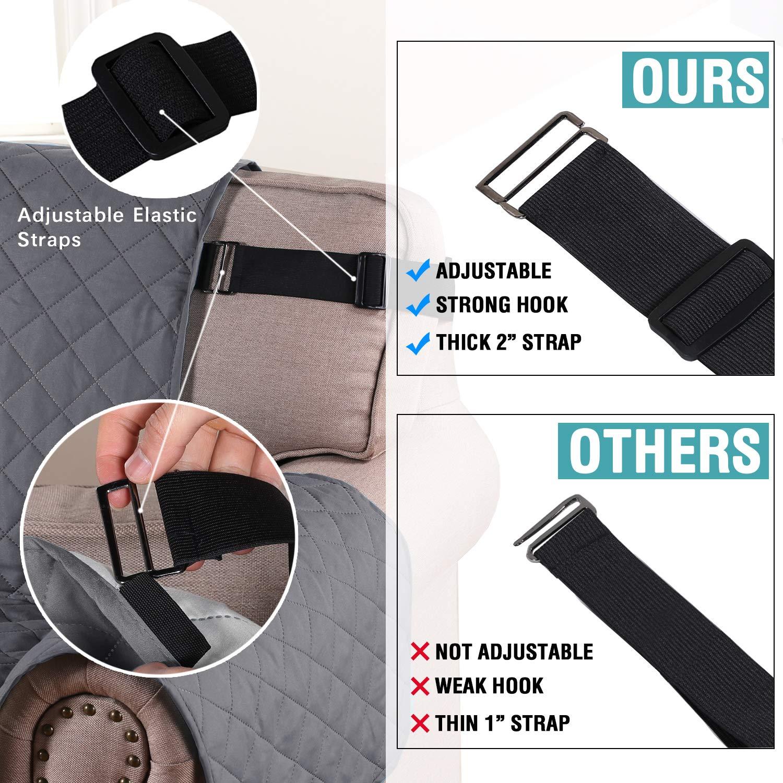 Protector de sofá acolchado de lujo, resistente al agua, protector de muebles, resistente a los enganches, resistente al suelo – un asiento, color ...