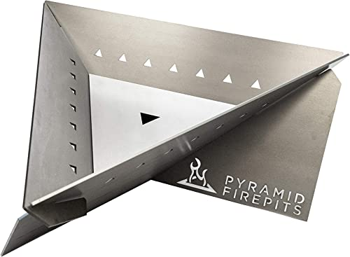 Pyramid Firepits Large Triangle Outdoor Fire Pit
