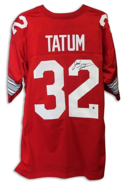 the best attitude a0a3d dcae8 Jack Tatum Ohio State Buckeyes Autographed Red Jersey -APE ...