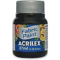 Tinta para Tecido, Acrilex, Fosca, Preto, 37 ml