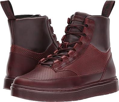 Dr. Martens Men's Kamar Sneaker Boot Oxblood Brando/Oxblood Pu/Oxblood Perf  Brando