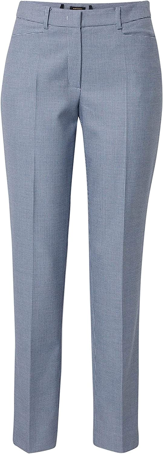 More & More Hedy Women's Pleated Trousers Pigeon Blue