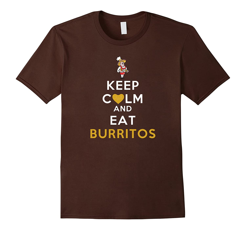 Keep Calm And Eat Burritos Parody T-Shirt-BN