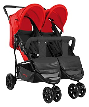 Asalvo Dinamic - Silla de paseo doble, color rojo: Amazon.es ...