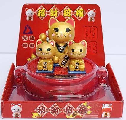 Lucky Cat 066 Solar Powered Bobblehead Toy Figure Nohohon