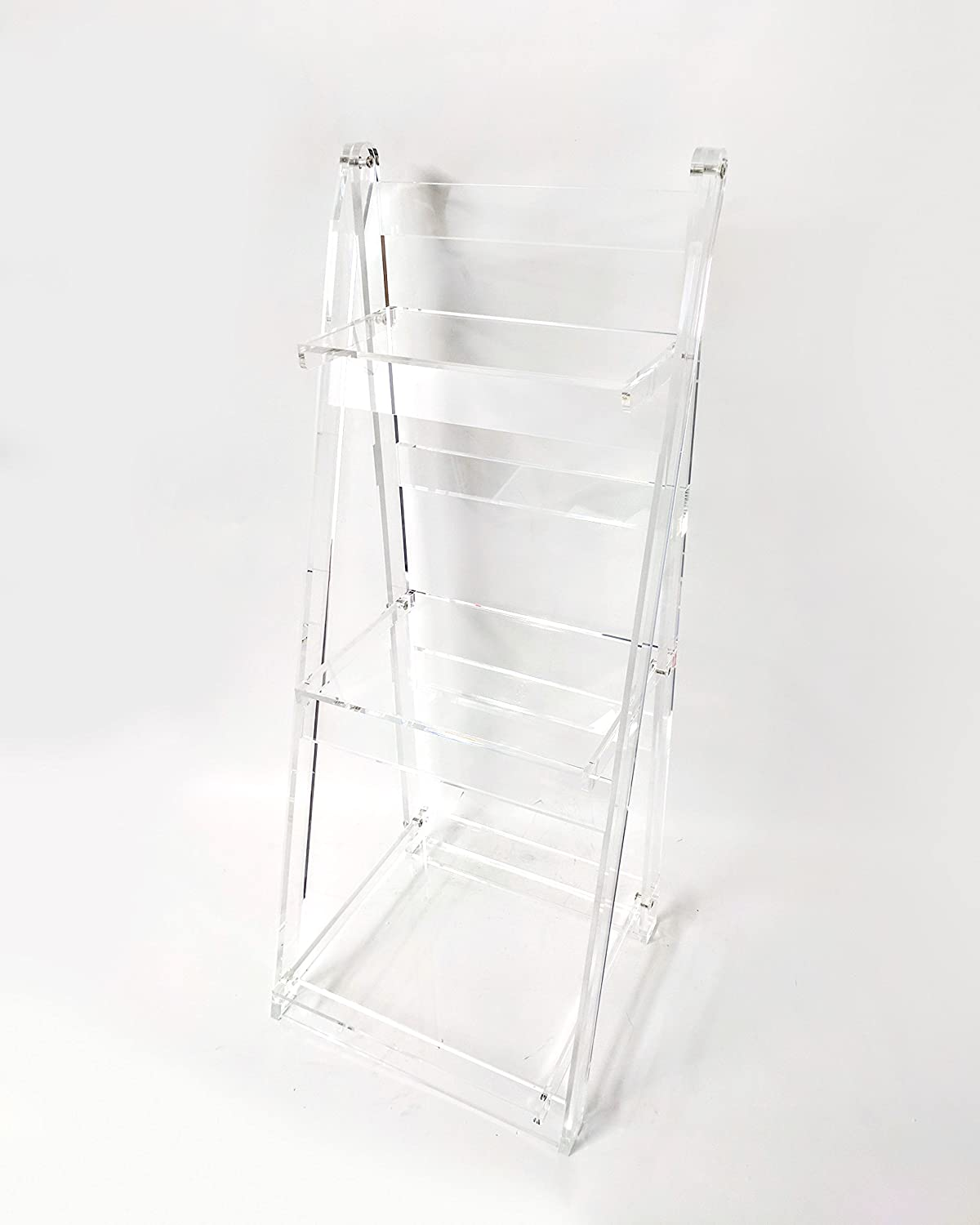 Amazon Designstyles Acrylic 3 Tiered Ladder Shelf Free Standing That Adds Both Visual Appeal And Structural Support To The Design Home Kitchen