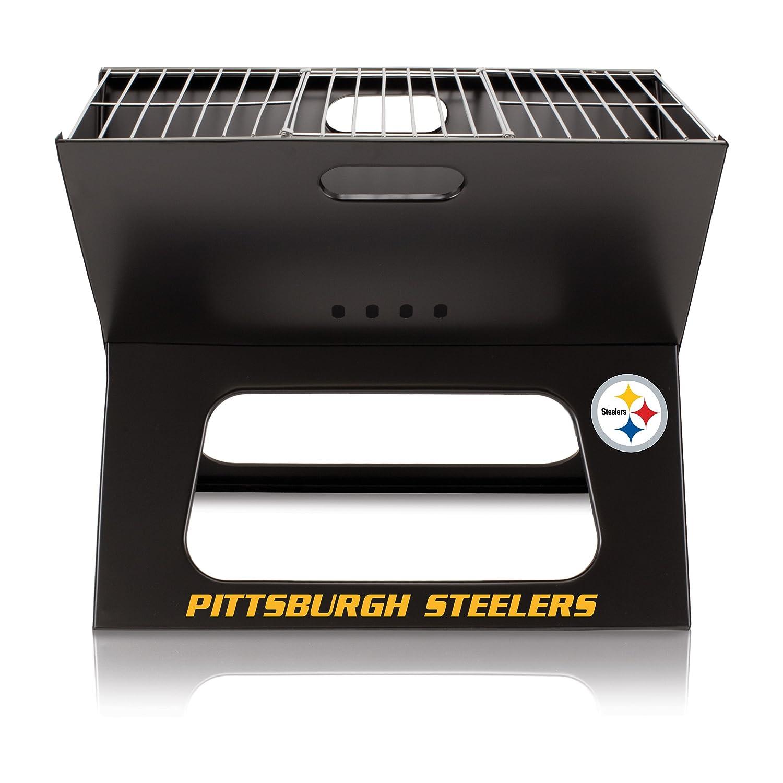 NFL Pittsburgh Steelersポータブル折りたたみ可能なチャコールx-grill B01EWKIVLS