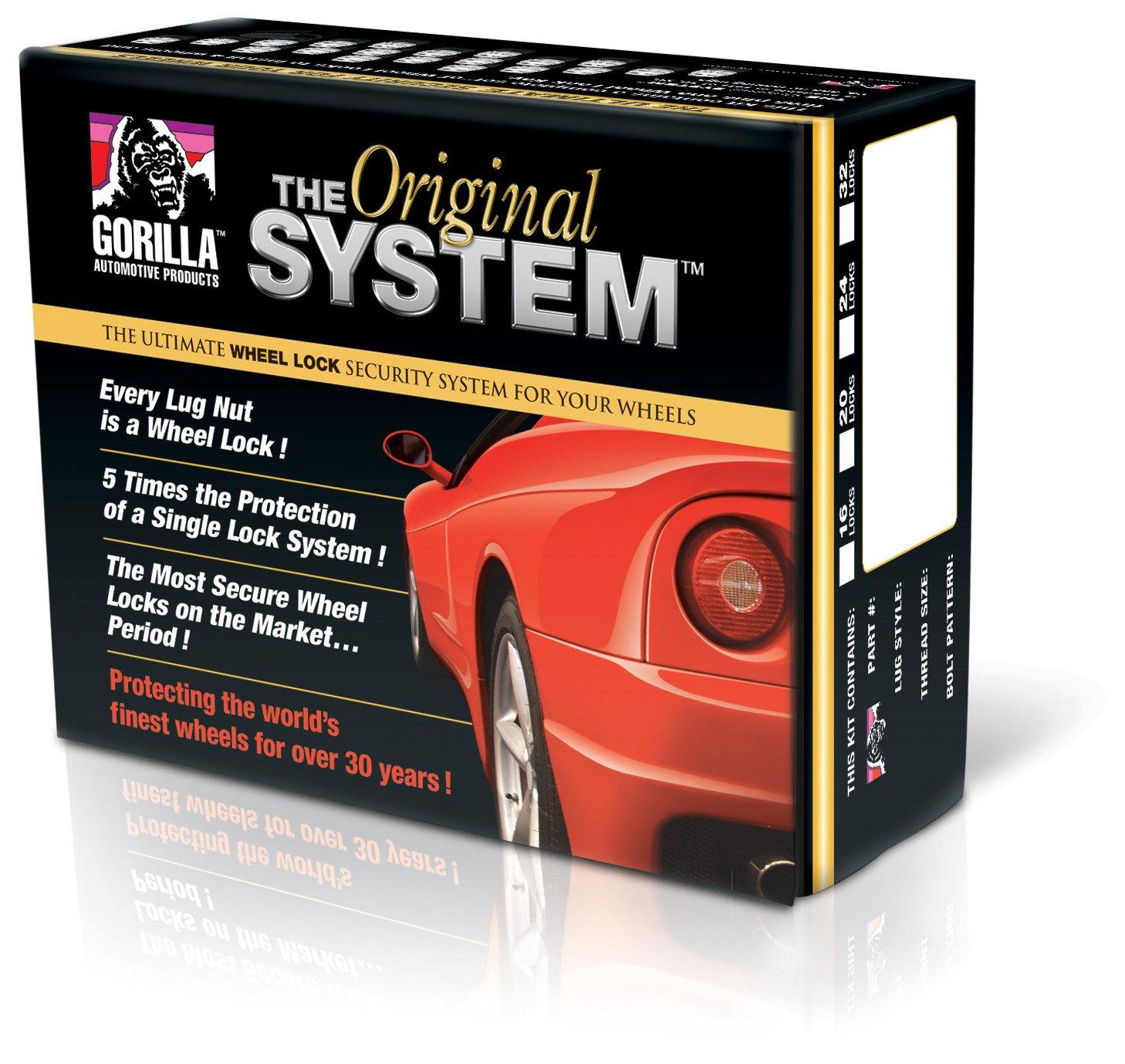 Gorilla Automotive 73683N ''The System'' Standard Mag Wheel Locks (1/2'' Thread Size) - For 5 Lug Wheels