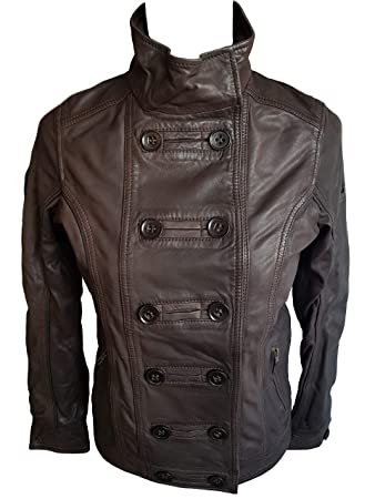 c3d748cb0 Timberland Women's Leather Jacket (A0511 227) (Dark Brown) (X-Small ...