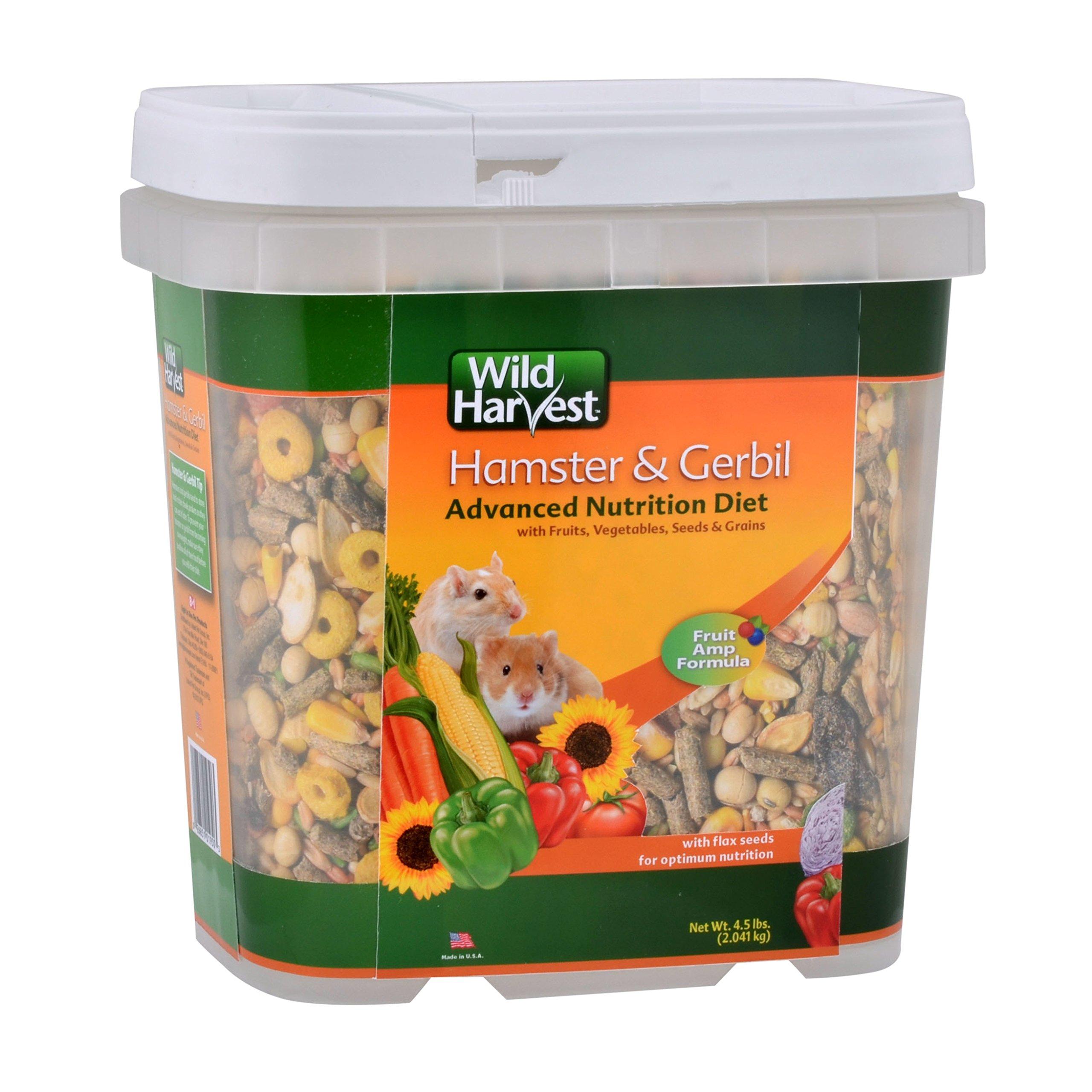 Wild Harvest Wh-83543 Wild Harvest Advanced Nutrition Diet For Hamsters Or Gerbils, 4.5-Pound by Wild Harvest