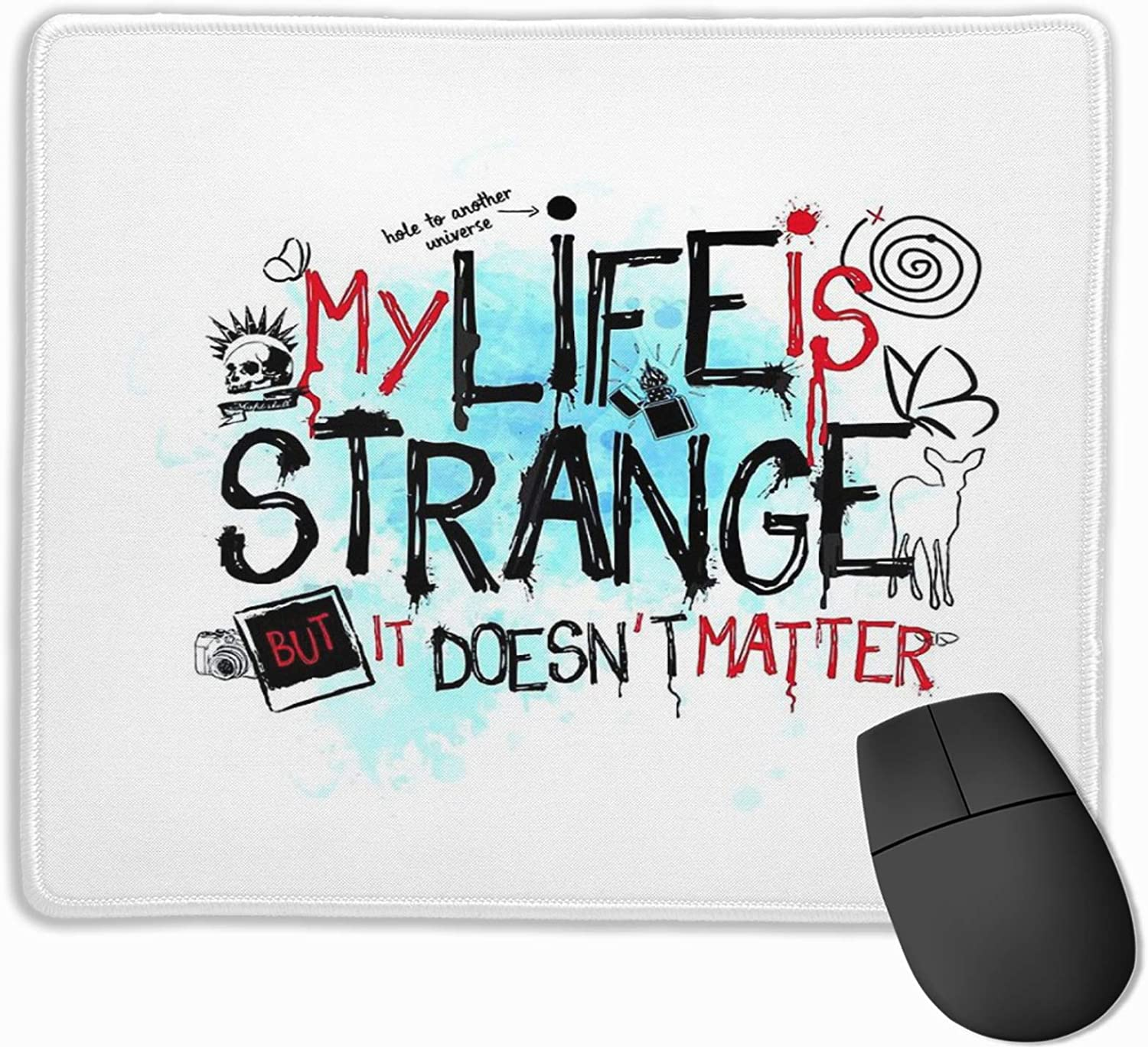 """My Life is Strange Stitched Edge Laptop Gaming Mouse Pad Computer Mousepad 11.8""""X9.8"""""""