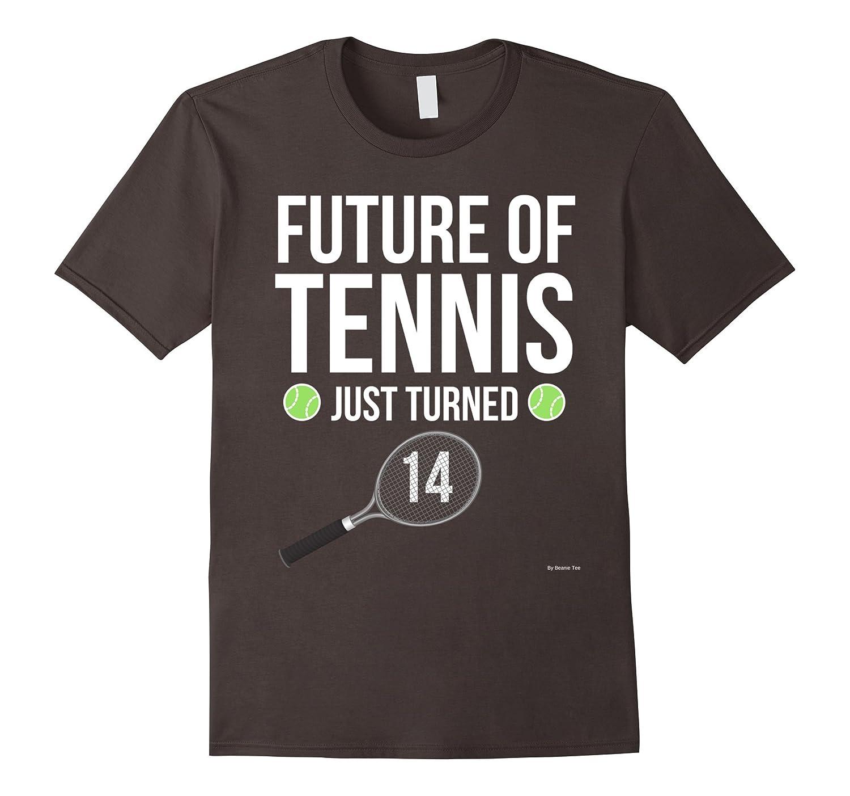 14th Birthday Tennis T Shirt 14 Year Old Birthday Gift Tee