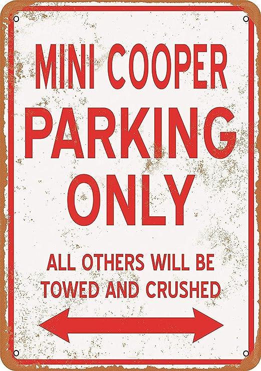 Mini Cooper Metal Cartel De Pared