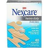 Nexcare Heavy Duty Fabric Bandages, 40 Bandages, Assorted Sizes