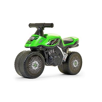Falk Kawasaki KX Bud Racing Apertura por Empuje Motocicleta - Juguetes de Montar (255 mm, 620 mm, 390 mm, 2,3 kg, 200 mm, 630 mm): Juguetes y juegos